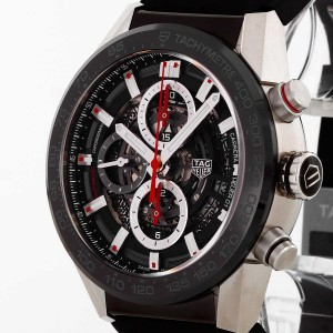 TAG Heuer Carrera Chronograph Calibre Heuer 01 stainless steel with rubber strap CAR201V.FT6046