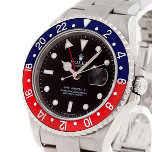 Rolex Oyster Perpetual GMT-Master II Stickdial Cal.3186 Edelstahl Ref. 16710