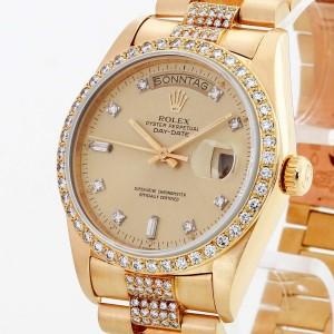 Rolex Oyster Perpetual Day-Date 18 K Gelbgold mit Diamanten Ref.18038