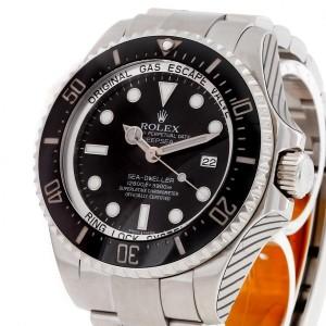 Rolex Oyster Perpetual Deepsea Sea-Dweller Edelstahl mit schwarzem Zifferblatt Ref. 116660