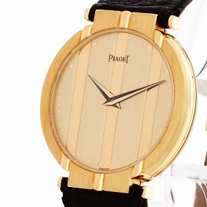 Piaget Polo 18 k yellow gold with leather strap Ref. 7673