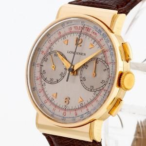 Longines Vintage Chronograph 14 K Gelbgold Kaliber 132N