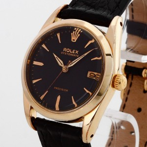 Rolex Oysterdate Precision Edelstahl vergoldet (unpoliert) Ref. 6694