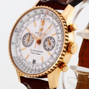 Breitling Navitimer 125 Anniversaire Chronograph 18 K Rotgold an Lederband Ref. 26322 Limited Edition