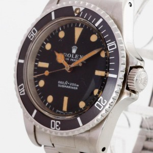Rolex Oyster Perpetual Submariner no date Edelstahl Non Serif Blatt Ref. 5513