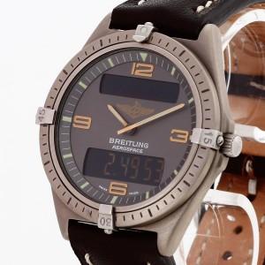Breitling Aerospace an braunem Lederband Ref. 80360