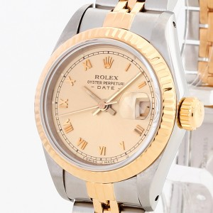 Rolex Oyster Perpetual Datejust Lady Edelstahl / 18 K Gelbgold Ref. 69173