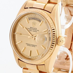 Rolex Oyster Perpetual Day-Date 18 K Gelbgold an Präsidentband Ref. 1803