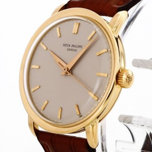 Patek Philippe Calatrava Kings Size with brown croco leather strap Ref. 2481