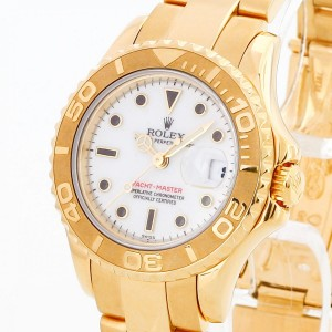 Rolex Oyster Perpetual Yacht-Master Lady aus 18 K Gelbgold Ref. 69628, LC100
