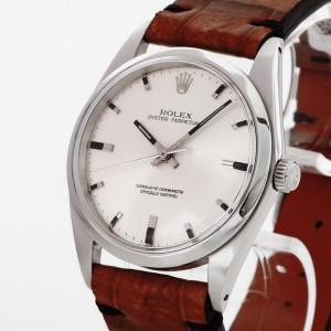 Rolex Oyster Perpetual an braunem Lederband Ref. 1018