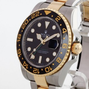 Rolex Oyster Perpetual GMT-Master II 18 K Gelbgold / Edelstahl Ref. 116713 LC100