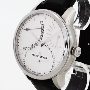 Maurice Lacroix Masterpiece Calendrier Retrograde Power Reserve with black croco leather strapRef. MP6508