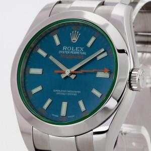 Rolex Oyster Perpetual Milgauss Grünes Glas Ref.116400GV LC100