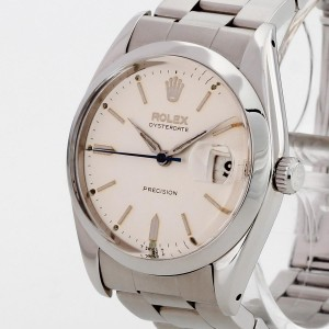 Rolex Oysterdate Precision Edelstahl an Stahlband Ref. 6694