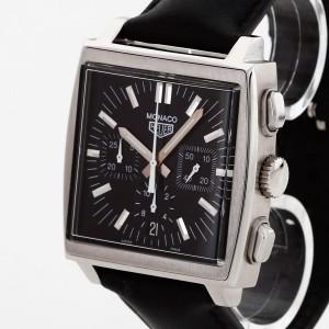 Tag Heuer Monaco with leather strap Ref. CS2111