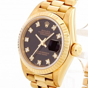 Rolex Oyster Perpetual Datejust Lady aus 18 K Gelbgold Ref. 69178