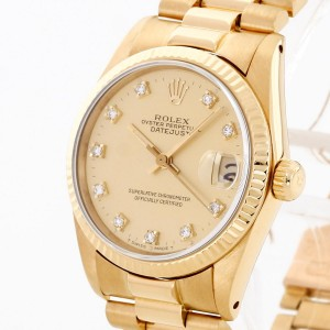 Rolex Oyster Perpetual Datejust Medium with diamonds Ref. 6827