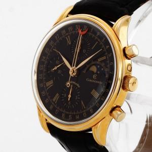 Chronoswiss Chronograph Edelstahl/Gold an Krokolederband Ref. 77990