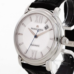 Maurice Lacroix Masterpiece with black leather strap Ref. MP6158