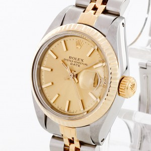 Rolex Oyster Perpetual Date Lady Edelstahl/18 K Gelbgold Ref. 6917