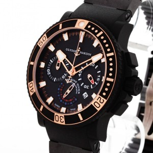 Ulysse Nardin Diver Black Sea Chronograph with rubber strap Ref. 353-90