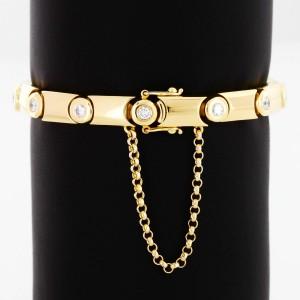 Armband 18 k Gelbgold mit 13 Brillanten ca. 2.0 Kt.