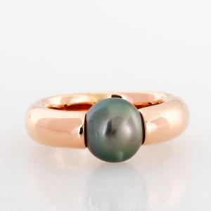 Ring 18 k rose gold with tahiti pearl