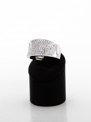 Ring with brilliantes with total 0,8 ct.