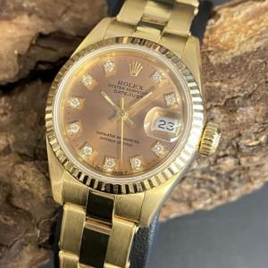 Rolex Oyster Perpetual Lady Datejust Diamanten 18 K Gelbgold Ref. 69178