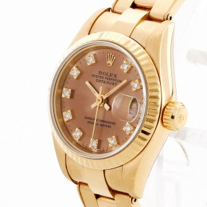 Rolex Oyster Perpetual Lady Datejust aus 18 K Gelbgold Ref. 69178