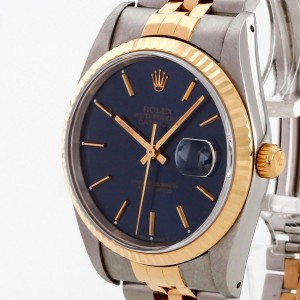 Rolex Oyster Perpetual Datejust 36 Edelstahl/18 K Gelbgold Ref. 16233