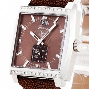 Tag Heuer Monaco wiht Diamonds Ref. WAW1316