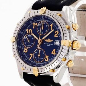 Breitling Chronomat Edelstahl/18 K Gold an Lederband Ref. B13050.1