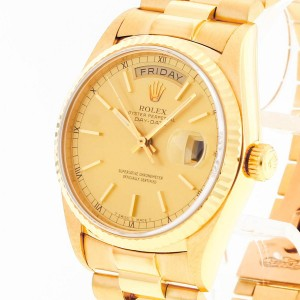 Rolex Oyster Perpetual Day-Date with Box and Papers Ref. 18038