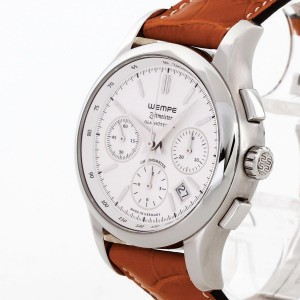 Wempe Zeitmeister Glashütte Chronometer brown crocodile leather Ref. 620367