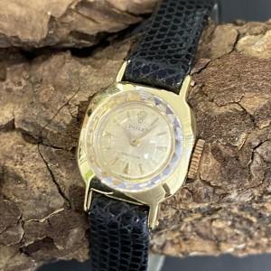 Rolex Precision Lady Gelbgold an Lederband