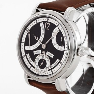 Maurice Lacroix Masterpiece Calendrier Retrograde hand-winding stainless steel Ref. MP7068