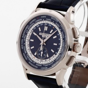 Patek Philippe World Time 18K Weißgold Chronograph Ref. 5930-001