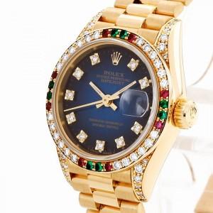 Rolex Oyster Perpetual Datejust Lady mit Rolex Diamantbesatz Ref. 69038