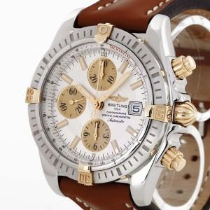 Breitling Chronomat Evolution an Lederband Ref. B1335611