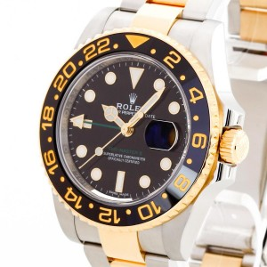 Rolex Oyster Perpetual GMT II Stahl / Gold Ref. 116713LN
