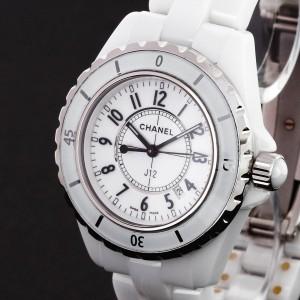 Chanel J12 Ceramic white quartz Ref. J12