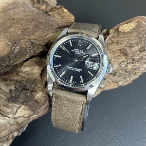 Rolex Oyster Perpetual Date an Lederband Ref. 15000