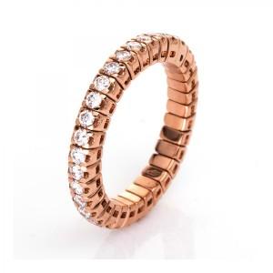 Ring 18 kt Rotgold mit 34 Brillanten 0,92 ct, Gr. 54