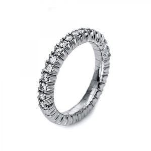 Ring 18 kt Weißgold mit 17 Brillanten 0,47 ct, Gr. 53