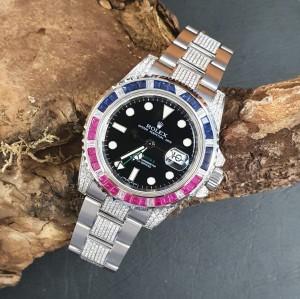Rolex GMT-Master II Diamanten Ref. 116710LN