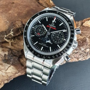 Omega Speedmaster Moonwatch Chronograph Mondphase FULL SET Ref. 30430445201001