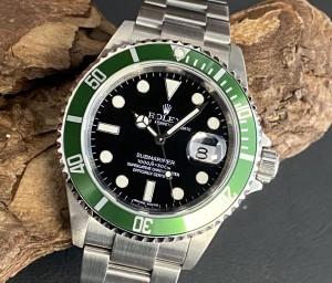 """Rolex Submariner Date """"Kermit"""" FULL SET LC100 Ref. 16610LV"""