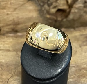Wempe Ring 18kt yellowgold with diamond